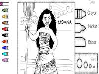 Moana Coloring
