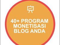 Ebook: 40 Program Monetisasi Untuk Blog