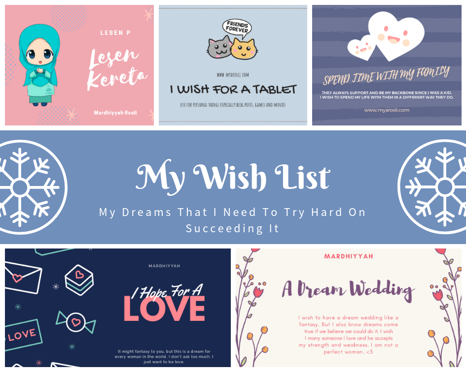 My Wishlist Collage