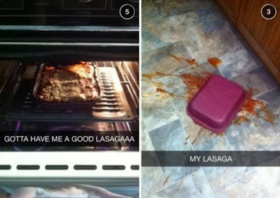 poor dude loses his lasagne =(