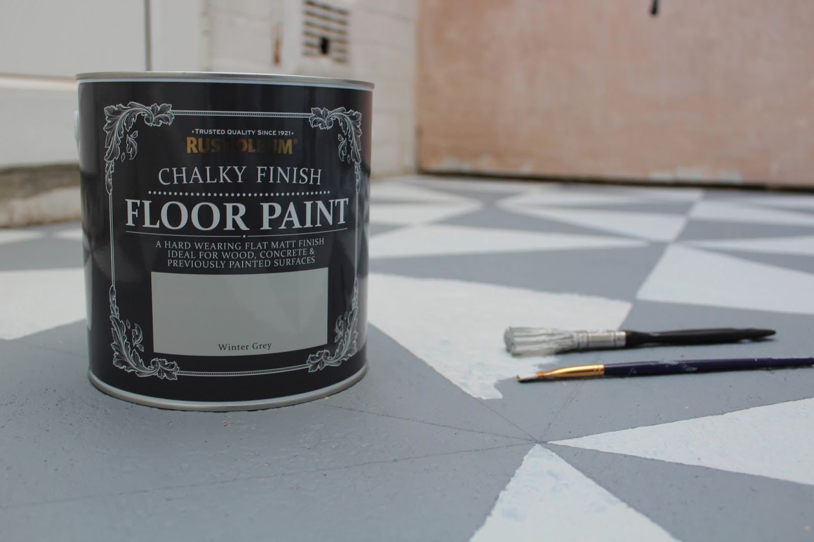Rustoleum Chalky Finish Floor Paint Winter Grey