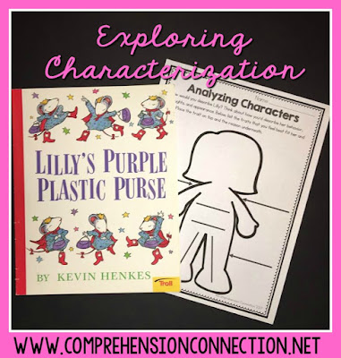 Explore characterization with one great character! Lilly's Purple Plastic Purse is a great mentor text for characterization. Freebie included.