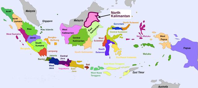 Nama 34 Propinsi di Indonesia dan Ibukotanya