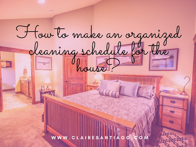 Handy schedule to keep your house clean