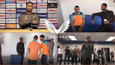 PES 2020 Rangers FC ( Castore ) Polo Shirts & Track Suits by PESWilliam