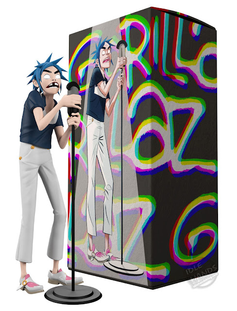 Gorillaz and Superplastic Limited Edition Vinyl 2D Figure
