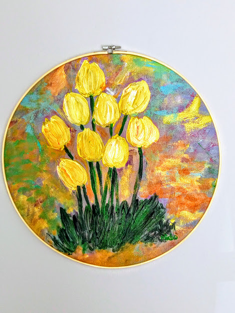 Tulip flowers,by Miabo Enyadike