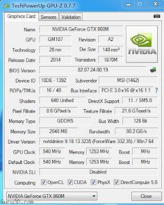 Nvidia GeForce GTX 860M(ノートブック)フルドライバーをダウンロード
