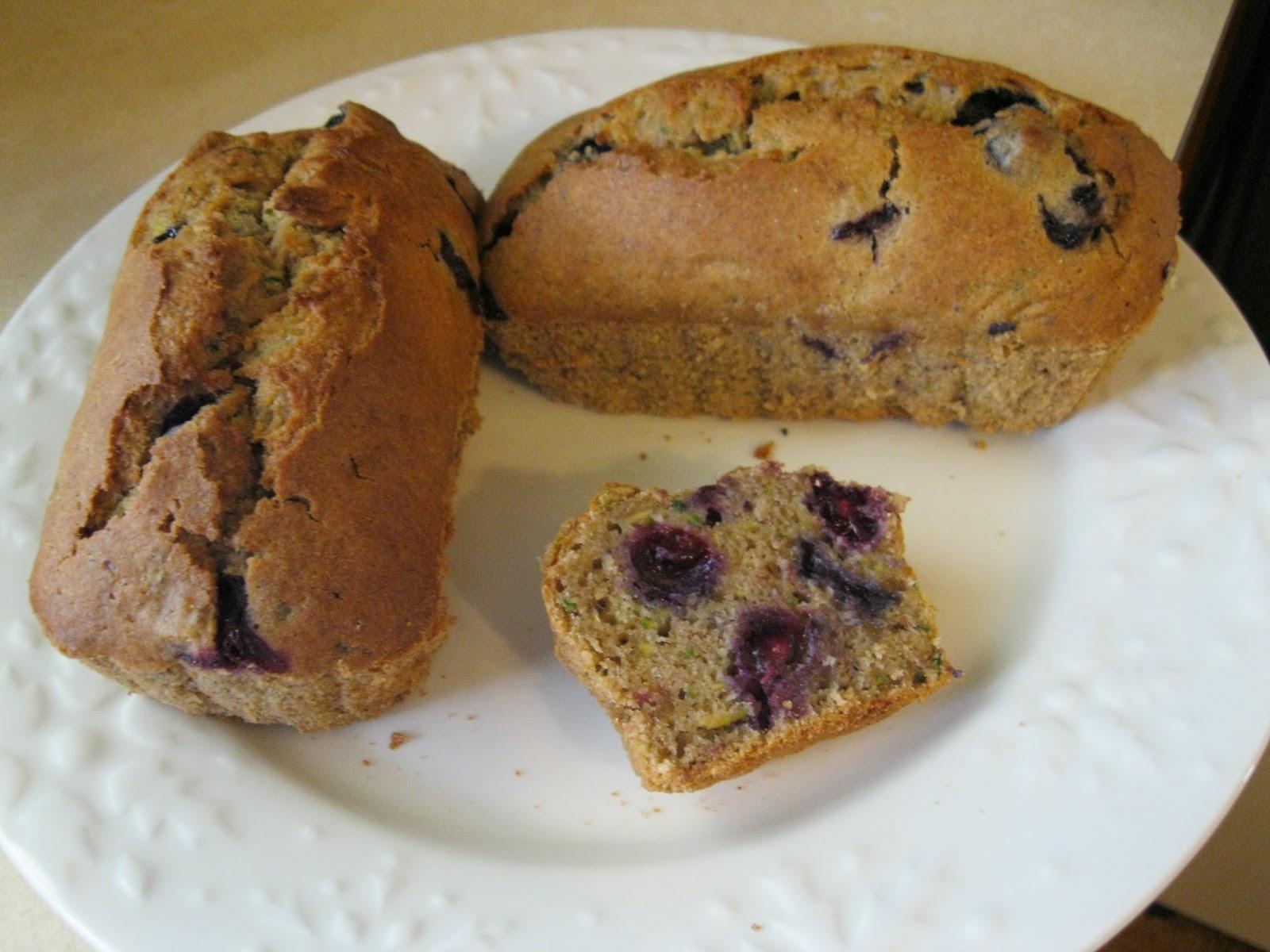 Gluten free blueberry zucchini bread