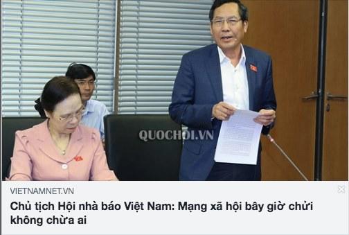 Đôi lời với ông Thuận Hữu, Chủ tịch Hội Nhà báo Việt Nam, Tổng biên tập báo Nhân Dân
