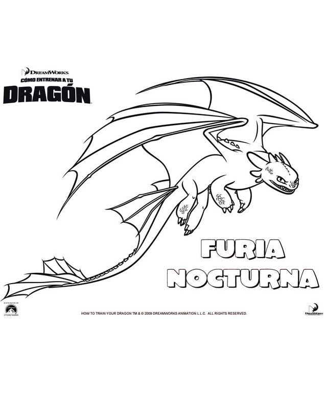 Dibujos Para Colorear Furia Nocturna