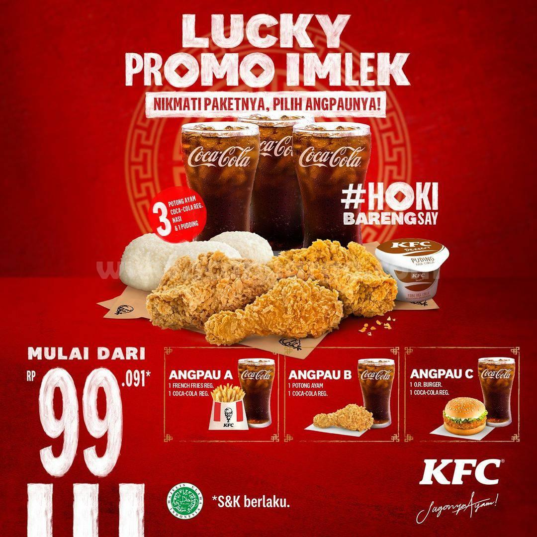 KFC Lucky Promo IMLEK! Harga Spesial Paket Angpau mulai dari Rp 99.091