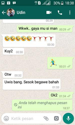 WhatsApp Anda telah menghapus pesan ini