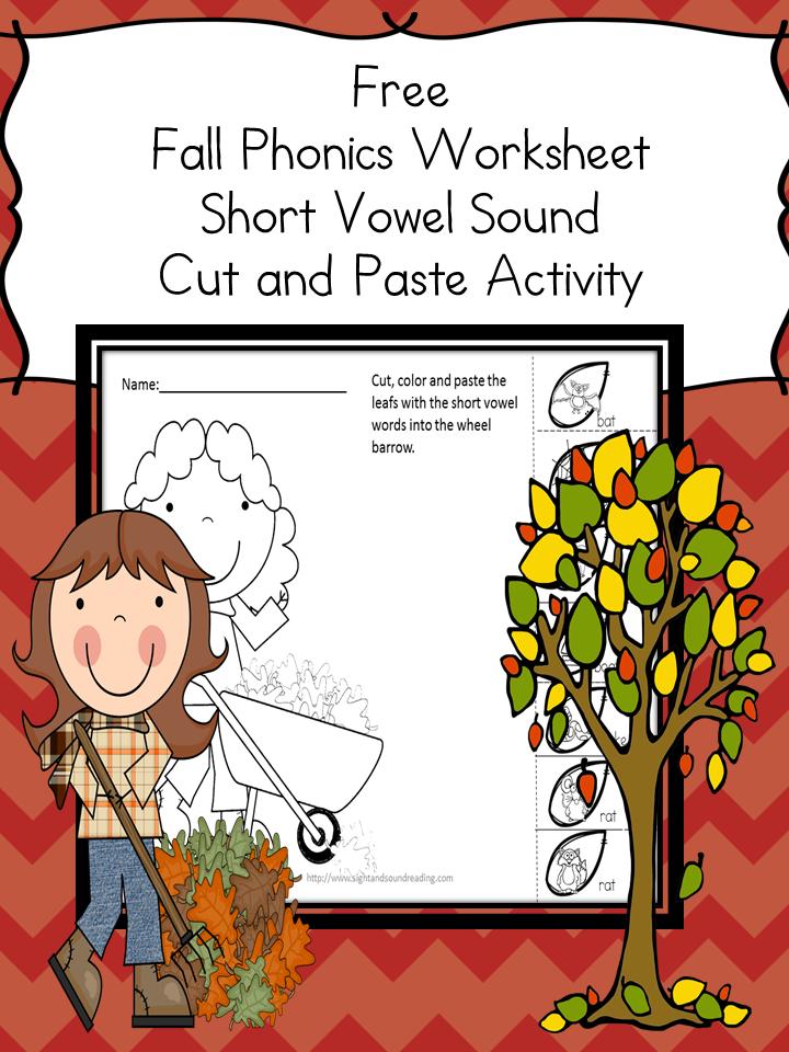 Cut and Paste Activity for Kindergarten - Classroom Freebies