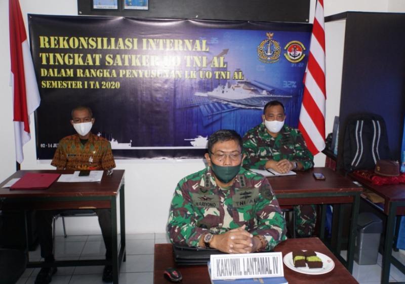 Kakunwil Lantamal IV Melalui Vicon Ikuti Rekonsiliasi Terpadu Kemhan/TNI