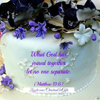 Matthew 19:6 'What God has joined together let no one separate.'