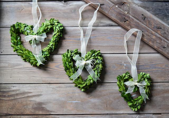 heart shaped boxwood wreaths