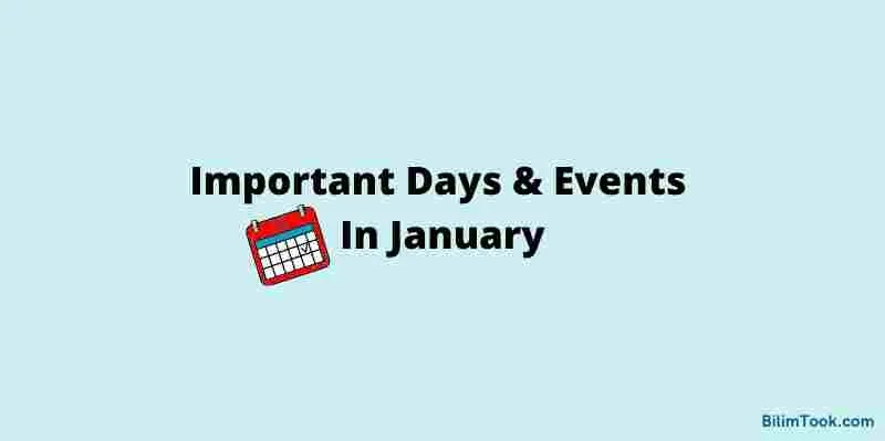January 2021: List of Important Days & Dates of January PDF