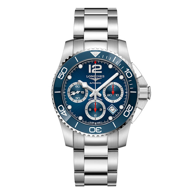 Longines HydroConquest Chronograph Ceramic blue bezel