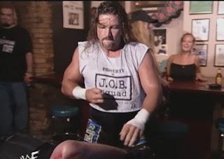 WWE / WWF - Summerslam 1999 - Al Snow beats up Big Boss Man in a bar