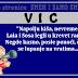 """VIC: """"Napolju kiša, nevreme. Lala i Sosa legli u krevet ranije. Negde kasno, posle ponoći, čuje se lupanje na vratima..."""""""