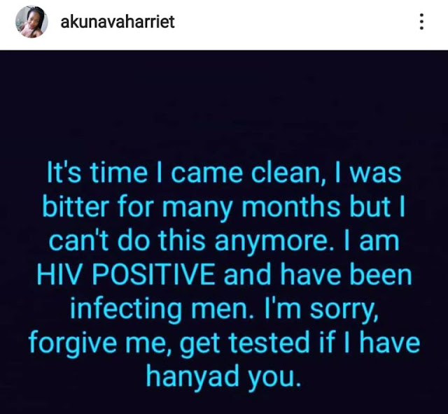 Lady Confesses She Has Been Infecting Men With HIV