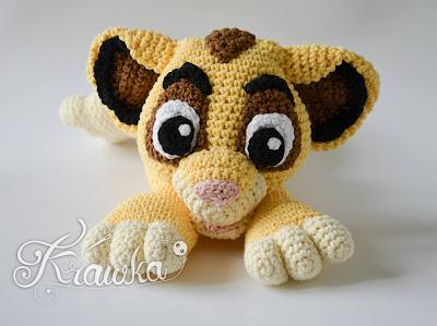 Krawka: Lion crochet pattern amigurumi Lion King Simba inspired instructions by Krawka