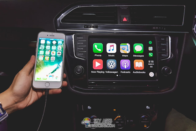 Apple Car Play on VW Tiguan 1.4 TSI