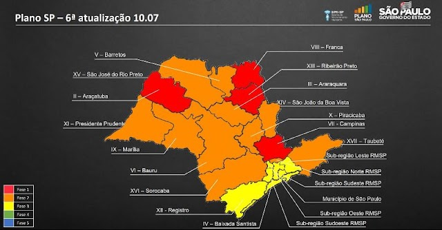 Vale do Ribeira muda para fase Amarela no Plano São Paulo - Coronavirus