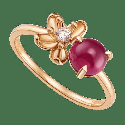 Nhẫn Vàng 18K đính đá Ruby PNJ Sắc Xuân RBXMY000635