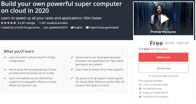 [100% Off] Build your own powerful super computer on cloud in 2020| Worth 24,99$