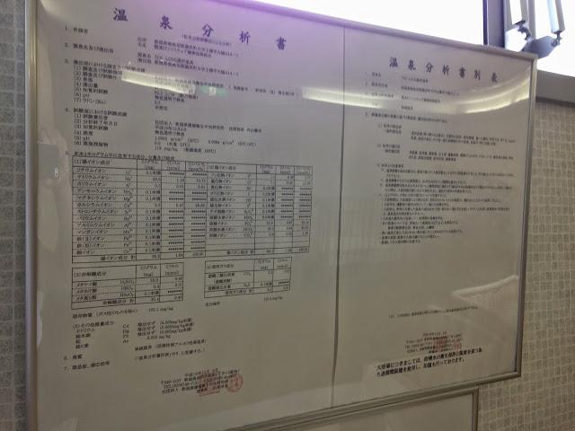 トスラブ湯沢 温泉分析書
