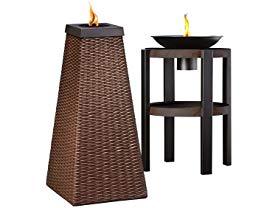 tiki lamplight antigua fire sculpture