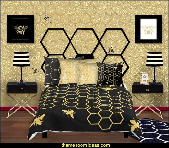 Decorating Theme Bedrooms Maries Manor Bumble Bee Bedrooms Bumble Bee Decor Honey Bee Decor Decorating Bumble Bee Home Decor Bumble Bee Themed Nursery Bee Wallpaper Mural