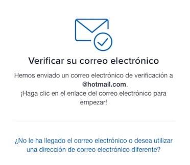 Registro y validación email en Coinbase web exchange
