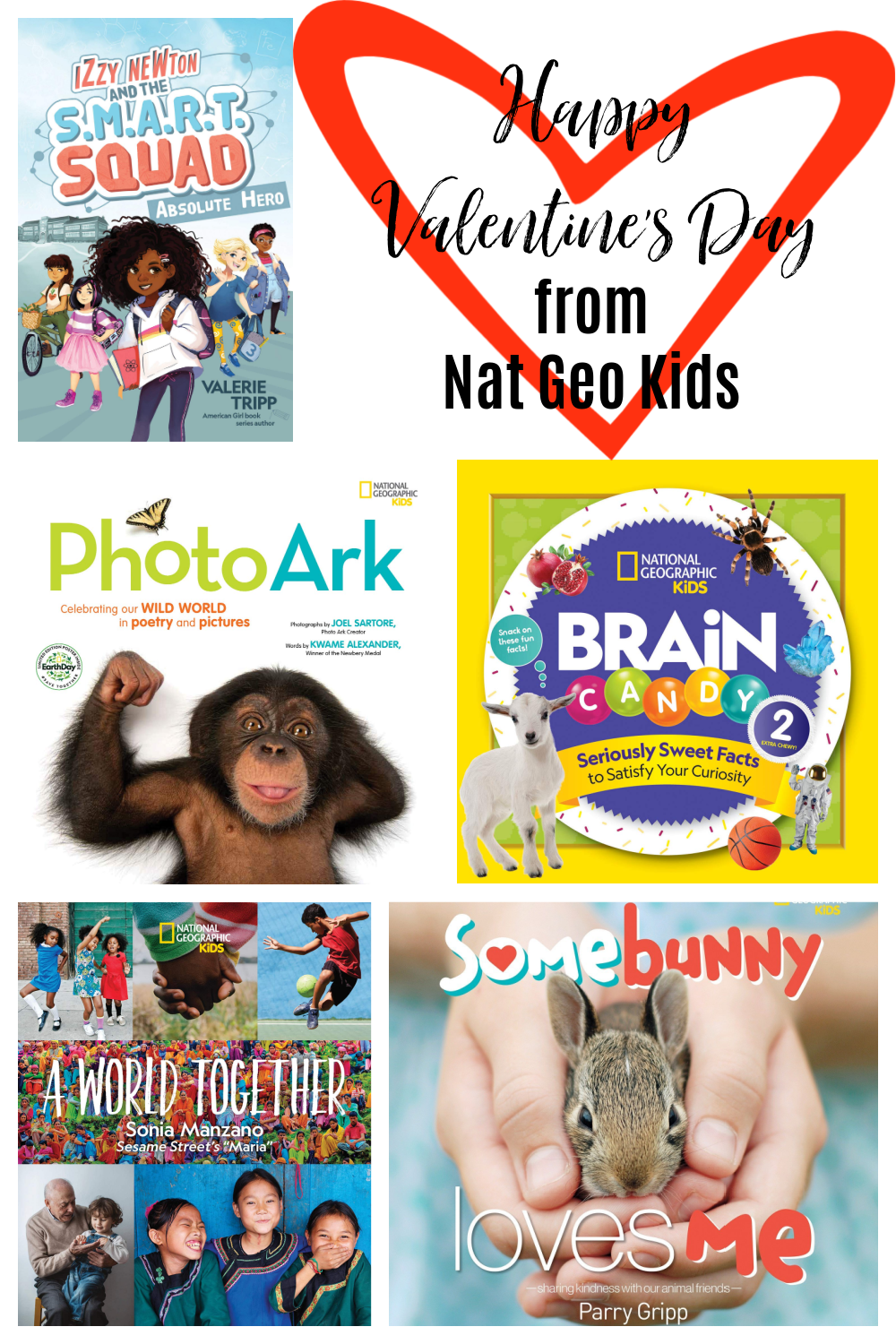 Happy Valentine's Day from Nat Geo Kids Books Giveaway