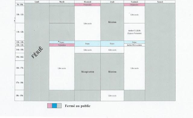 planning du 08 au 15 mai 2017