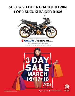 3 Day Sale At Sm Center Lemery On March 16 17 And 18