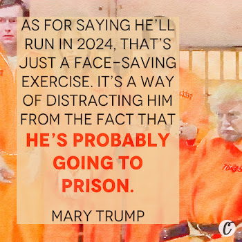 As for saying he'll run in 2024, that's just a face-saving exercise. It's a way of distracting him from the fact that he's probably going to prison. — Mary Trump