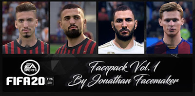 FIFA 20 Facepack Vol 1 by Jonathan Facemaker