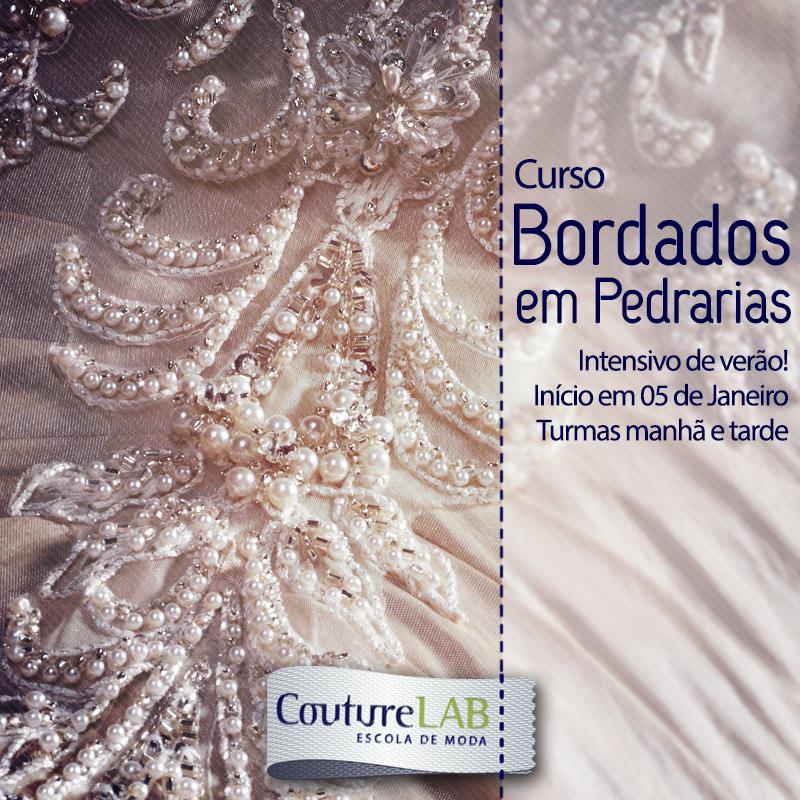 a85f164407 Couture Lab: Curso Bordados em Pedrarias - Intensivos de Verão!