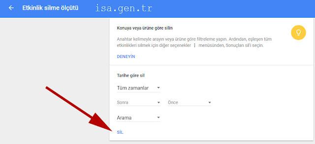 Google Arama Geçmişi Nasıl Silinir?