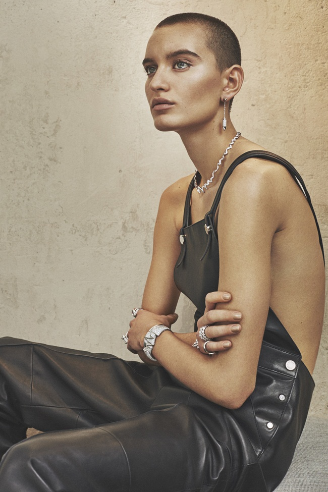 Hermes 2015 AW Black Leather Dungarees Editorials