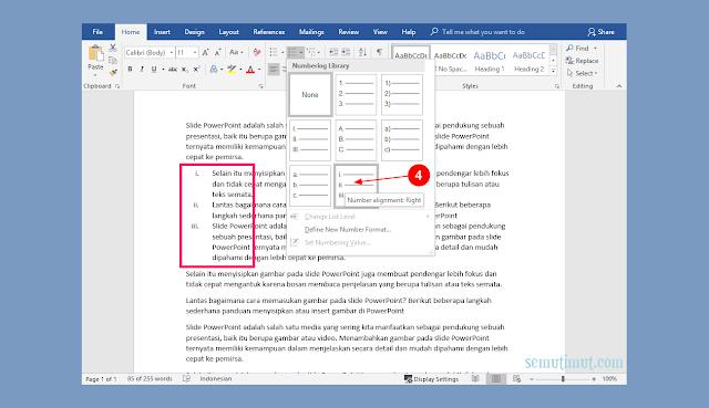 Cara Memasukan Angka Romawi di Microsoft Word