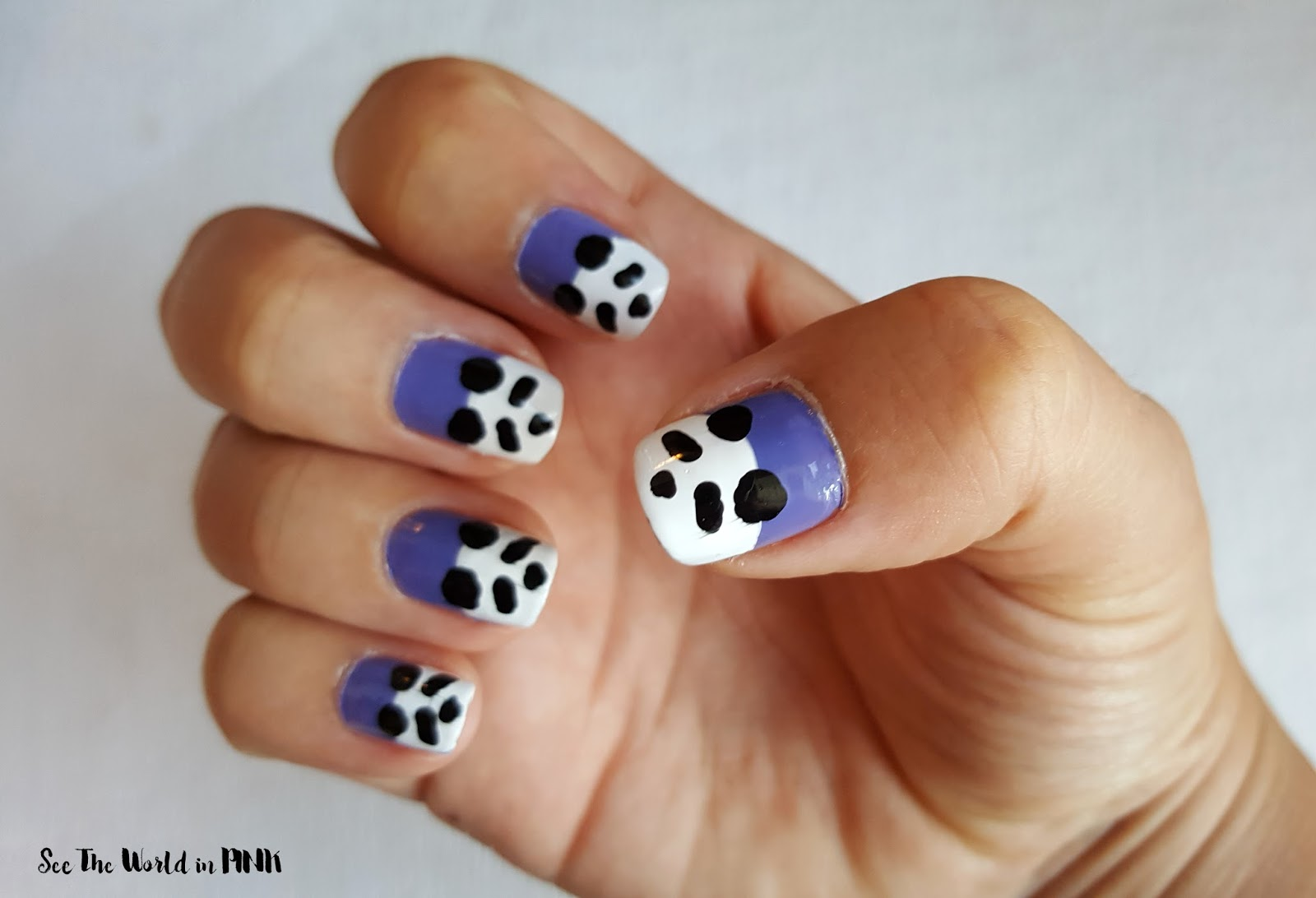 Manicure monday best recent nail art looks see the world in pink eeeek how cute are these little pandas i love how they turned out especially the thumb and they were surprisingly easy to do prinsesfo Images
