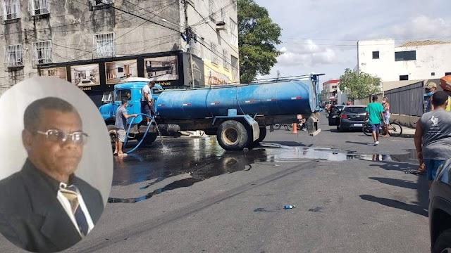 Morre motociclista que colidiu com carro-pipa no Bairro da Estação em Jacobina