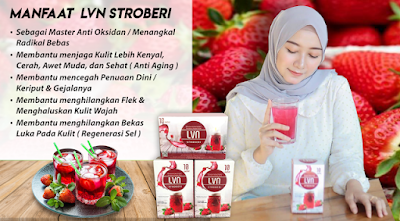 LVN Stroberi with Collagen - 100% Produk PT. BEST