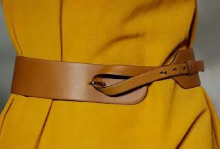 حزام نسائي جلدي بني