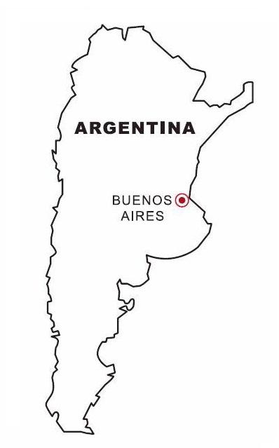 Blog Da Educacao Mapa De Argentina Para Colorear