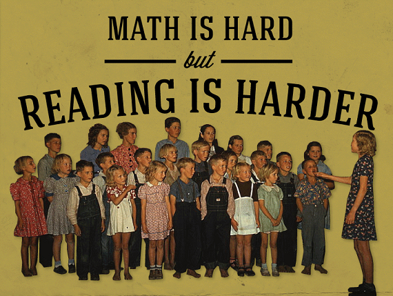 Math Is Hard But Reading Is Harder #Infographic